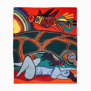Tapisserie par Beverloo Corneille pour Atelier 3, 1988