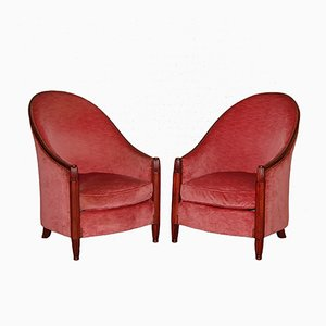 Armchairs by René Joubert & Philippe Petit for DIM, 1920s, Set of 2