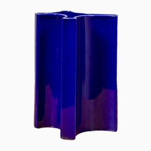 Vase Bleu par Angelo Mangiarotti pour Brambilla, 1960s
