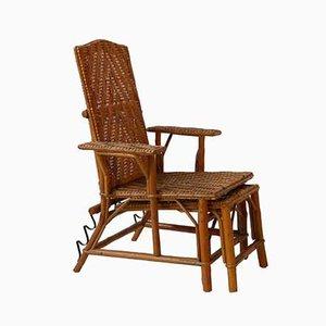 Rattan Children's Deck Chair, 1960s