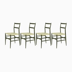 Chaises Superleggera par Gio Ponti pour Cassina, 1957, Set de 4
