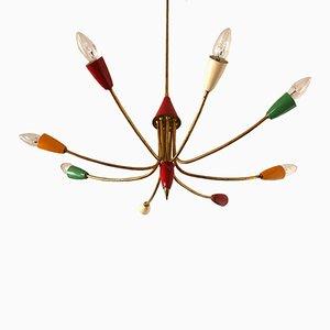 Lámpara de techo Sputnik italiana, años 50