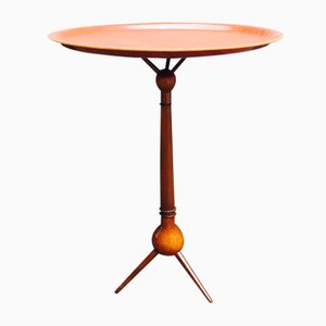 Table à Trépied en Noyer & Teck par Severin Hansen, 1950s