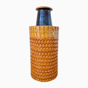 Jarrón italiano de cerámica de Aldo Londi para Bitossi, años 70