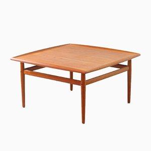 Tavolino da caffè in teak di Grete Jalk per Glostrup, anni '60