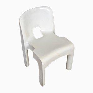 Sedie in plastica Universale 4867 di Joe Colombo per Kartell, anni '60, set di 6