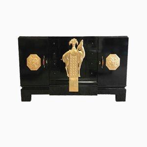 Italienisches Art Deco Sideboard mit Blattgold Details, 1930er