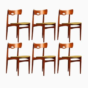 Dänische Vintage Teak Stühle von Bramin, 1960er, 6er Set
