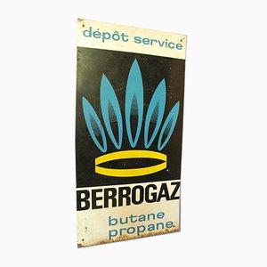 Industrielles Französisches Berrogaz Gasdepot Werbeschild