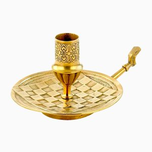 French Brass Candleholder, 1950s