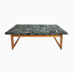 Tavolino da caffè in marmo verde, anni '60