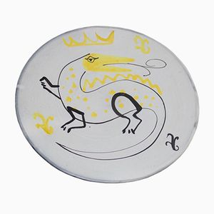 Vintage Decorative Plate by Roger Capron