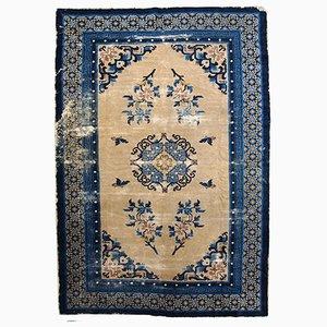Handgemachter Antiker Chinesischer Peking Teppich, 1880er
