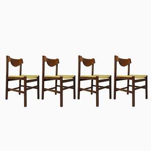 Grüne Italienische Esszimmerstühle von Arch. Ramella, 1960er, 4er Set