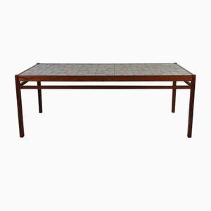 Mid-Century Danish Teak & Ceramic Coffee Table