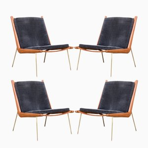 Boomerang FD135 Chairs by Peter Hvidt & Orla Mølgaard-Nielsen for France & Son, 1960s, Set of 4