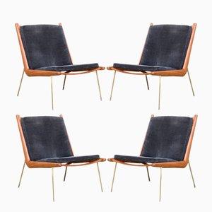 Boomerang FD135 Stühle von Peter Hvidt & Orla Mølgaard-Nielsen für France & Son, 1960er, 4er Set