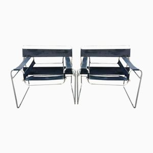 Bauhaus B3 Wassily Sessel von Marcel Breuer, 2er Set