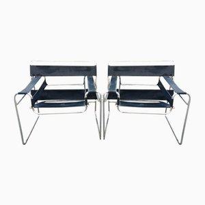 Sedie Wassily B3 Bauhaus di Marcel Breuer, set di 2