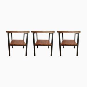 Mesas auxiliares de formica, años 60. Juego de 3