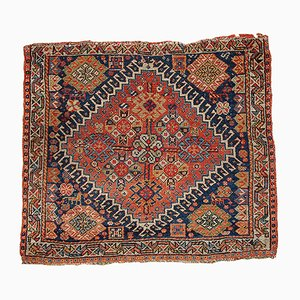 Antique Middle Eastern Handmade Bag Face Rug, 1870s