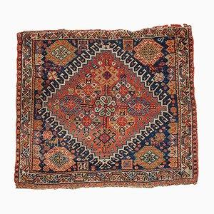 Handgearbeiteter antiker orientalischer Bag Face Teppich, 1870er