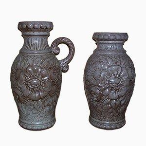 Jarrones de cerámica de Scheurich. Juego de 2