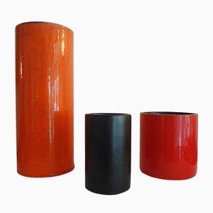 Vases Cylindriques par Georges Jouve, 1950s, Set de 3