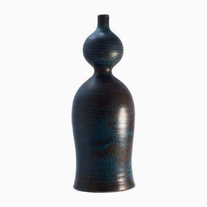 Schwedische Steingut Vase von Stig Lindberg für Gustavsberg, 1950er