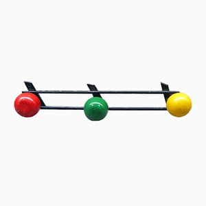 Mid-Century Multicolored French Coat Rack