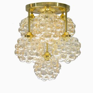 Gold Bubble Glass Ceiling Light by Helena Tynell for Limburg, 1960s