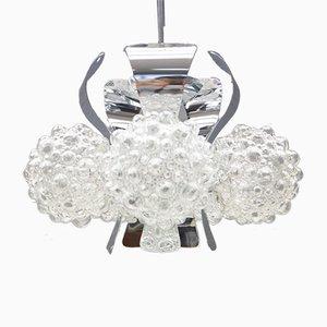 Chrom Bubble Glas Deckenlampe von Helena Tynell für Limburg, 1960er