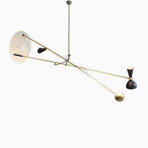 Italienische Vintage Messing Deckenlampe