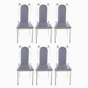 Sillas de comedor de plexiglás de Maison Jansen, años 70. Juego de 8