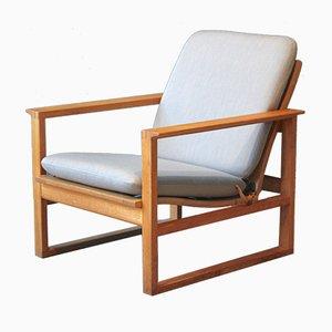 Model 2256 Oak Easy Chair by Børge Mogensen for Fredericia, 1950s