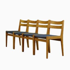 Dänische Mid-Century Esche Stühle, 4er Set