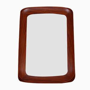 Mid-Century Swedish Walnut Mirror from Atelier G&T, 1960s