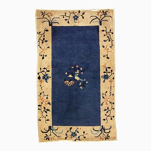Handgemachter Antiker Chinesischer Peking Teppich, 1900er