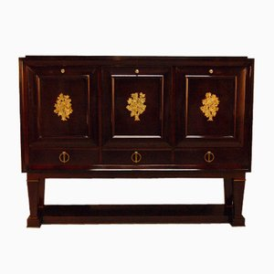 Vintage Lacquered Cabinet by René Drouet