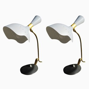 Mid-Century Table Lamps from Arredoluce, 1950s, Set of 2