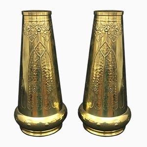Englische Jugendstil Vasen, 2er Set