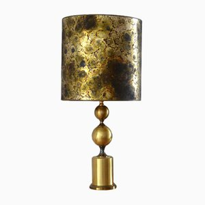 French Brass Table Lamp, 1960s