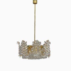 Lámpara de araña austriaca de cristal de Bakalowits & Söhne, 1950