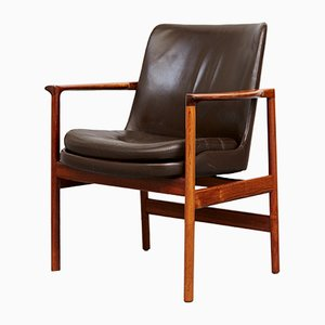 Mid-Century Rosewood Armchair by Ib Kofod Larsen for Fröscher
