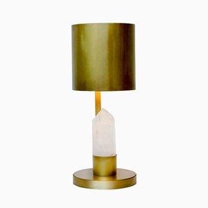 Lámpara de mesa de cristal y latón de Glustin Luminaires
