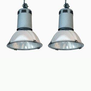 Vintage Fabriklampen von Siemens, 2er Set