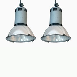 Vintage Factory Lamps from Siemens, Set of 2