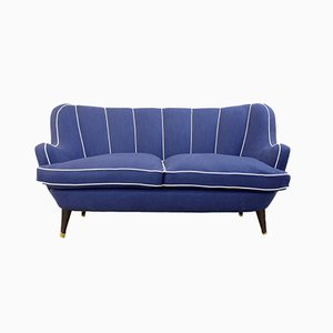Vintage Italian Royal Blue Sofa