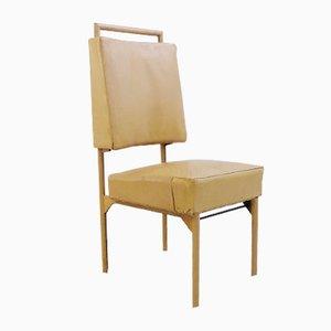 Stuhl aus Leder & Eisen von Jacques Adnet, 1950er