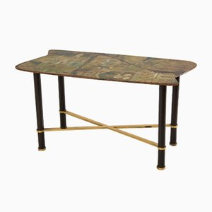 Hand-Painted Italian Coffee Table by Gruppo Decalage, 1956